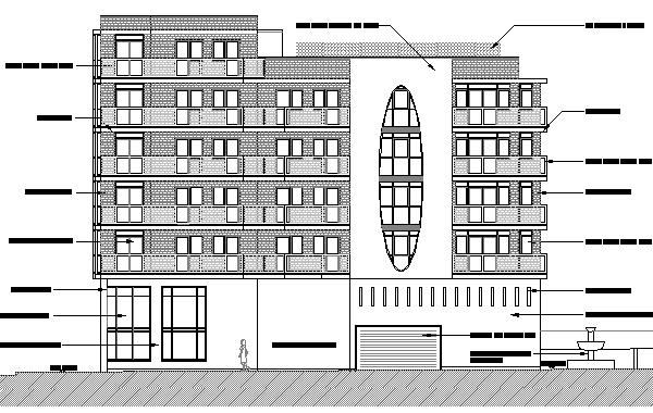 Drawing for 2 retail units and 13 apartments in Cork Street, Dublin 8