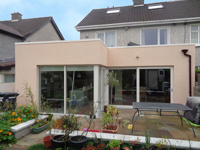 Single storey rear house extension in Chapelizod, Dublin 20