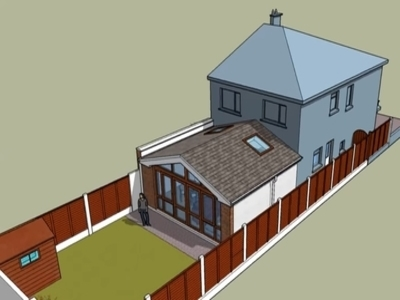 Single storey rear dwelling extension in Maynooth, Co. Kildare