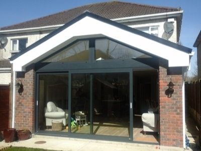 Single storey rear house extension in Maynooth,  Co. Kildare
